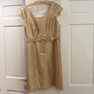 Badgley Mischka gold dress